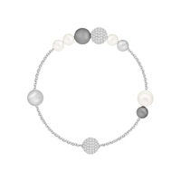 Браслет Remix Collection Mixed Gray Crystal Pearl Swarovski